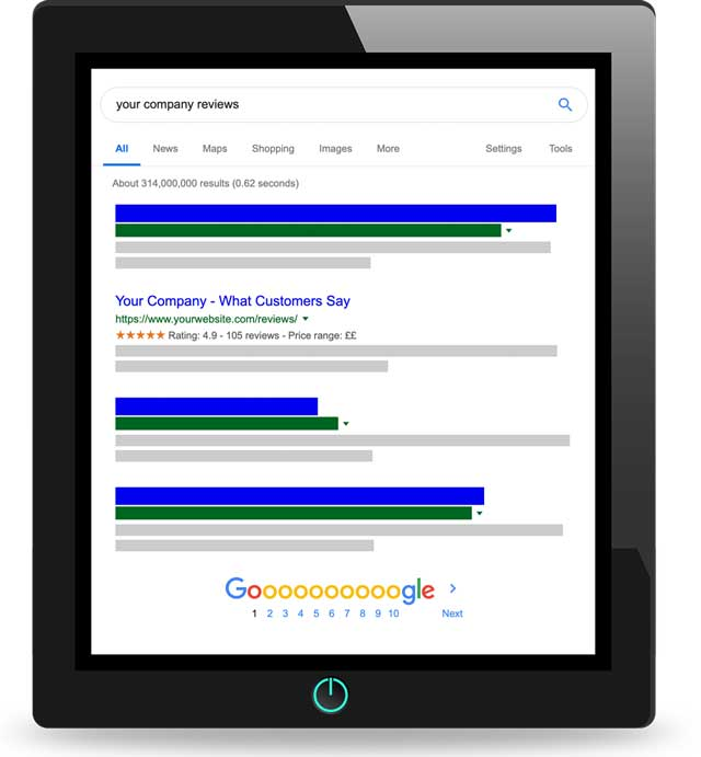 Our display widgets are fully optimised for SEO