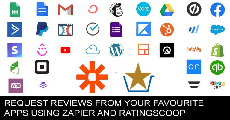 Request reviews from your favourite apps using Zapier and RatingScoop